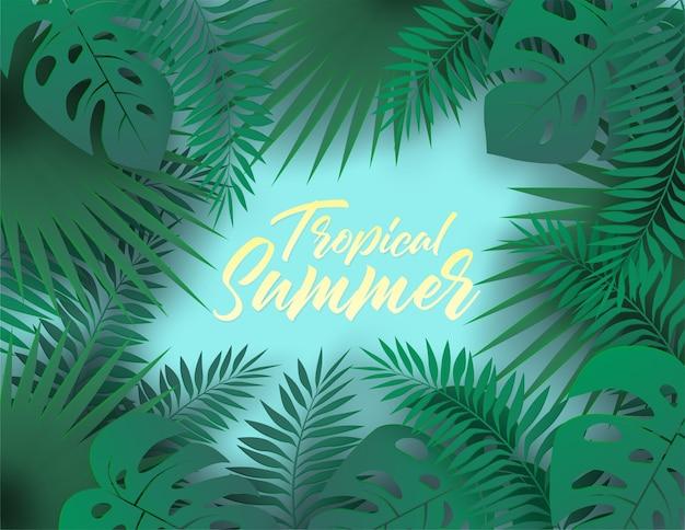 Tropikalny lato tło.