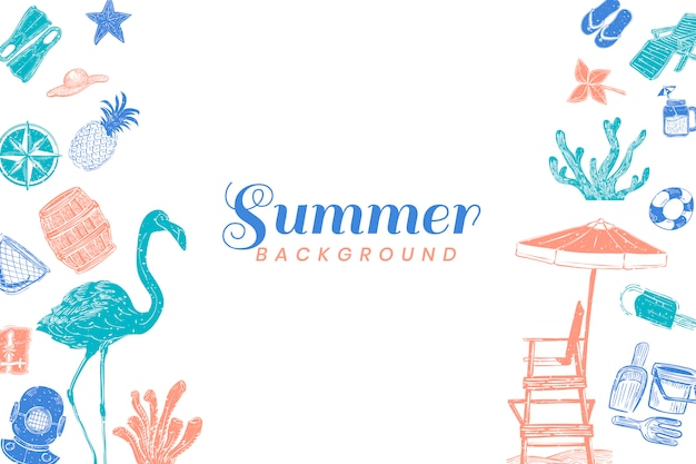 Tropikalny lato tło