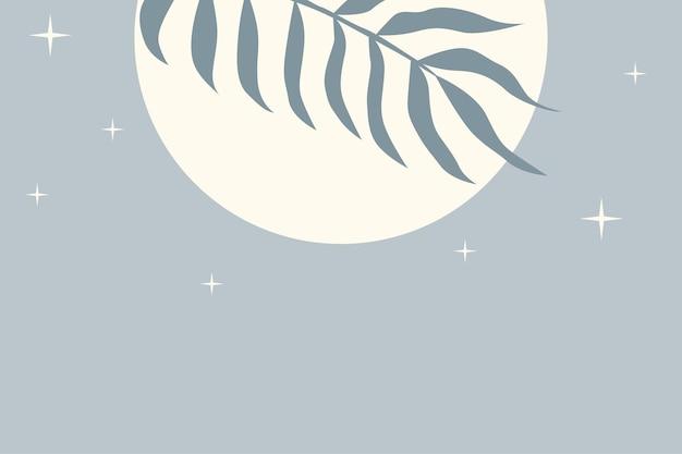 Tropikalny liść roślin w tle. ilustracja w kolorze niebieskim