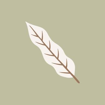 Tropikalny liść symbol mediów społecznościowych post botaniczny ilustracja wektorowa