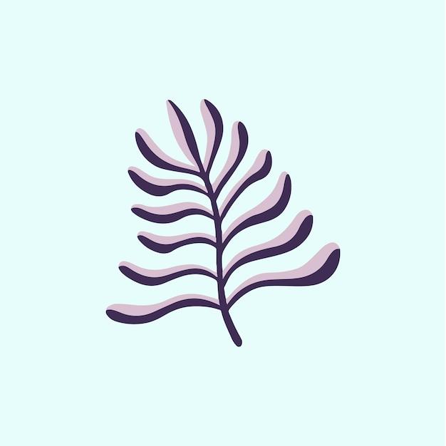 Tropikalny liść symbol mediów społecznościowych post ilustracja wektorowa kwiatów