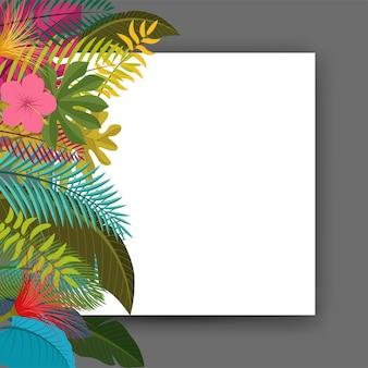 Tropikalny liści kwiatowy vintage