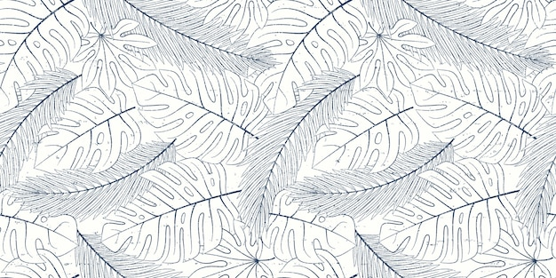 Tropikalny naturalny wzór egzotycznych liści.