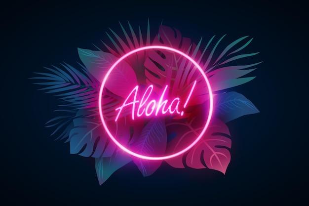 Tropikalny neon z liści lub kwiatów