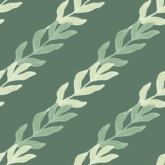 Tropikalny oddział z liści wzór na zielonym tle. tło liści. tapeta natura. do projektowania tkanin, drukowania tekstyliów, pakowania, okładek. ilustracja wektorowa.