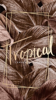 Tropikalny plakat