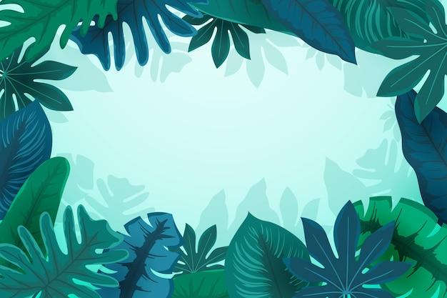 Tropikalny styl pozostawia tło