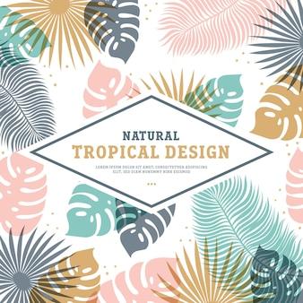 Tropikalny szablon w pastelowych kolorach