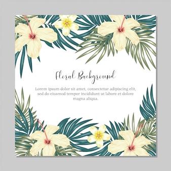 Tropikalny uniwersalny szablon kwiatowy