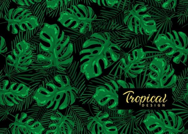 Tropikalny wzór. egzotyczny baner.