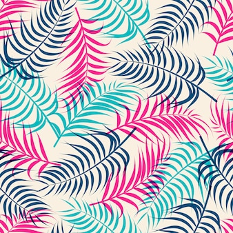 Tropikalny wzór liści