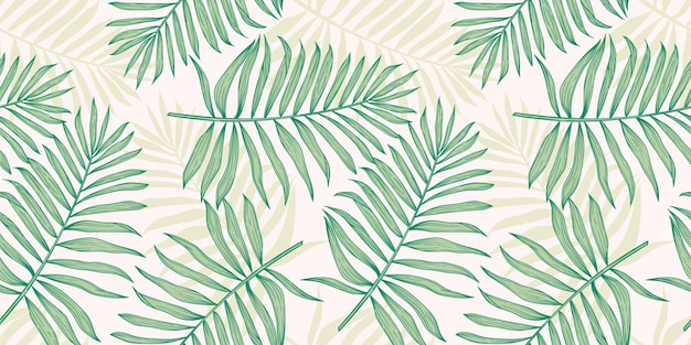Tropikalny wzór z liści palmowych.