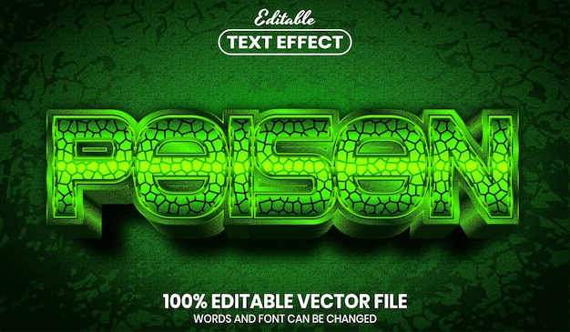 Trujący tekst, edytowalny efekt tekstowy w stylu czcionki