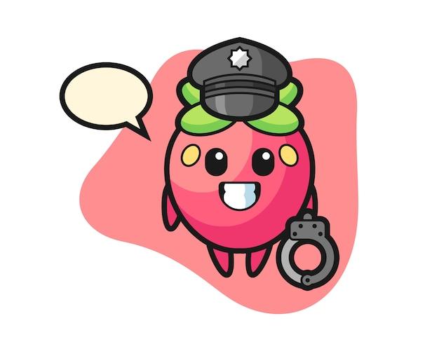 Truskawkowa kreskówka jako policja