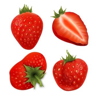 Truskawkowe smaczne jagody rolnicze