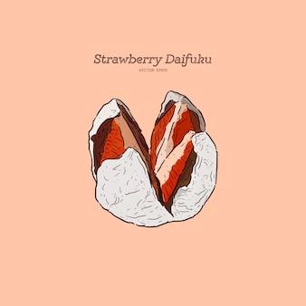 Truskawkowy daifuku