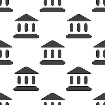 Trybunał, wektor bezszwowy wzór, edytowalny może być używany do tła stron internetowych, wypełnienia deseniem