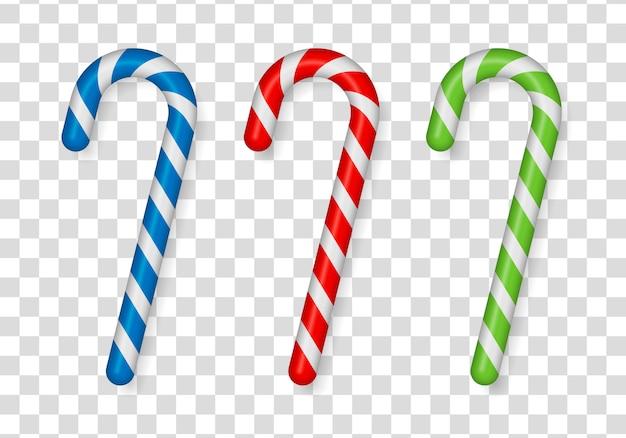Trzcina bożonarodzeniowa, kij, słodycze świąteczne, czerwone cukierki.