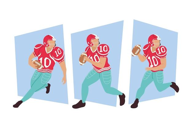 Trzech graczy futbolu amerykańskiego