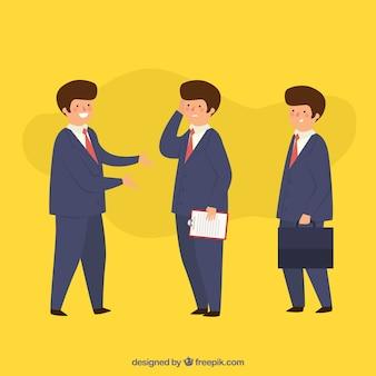 Trzech sprzedawców