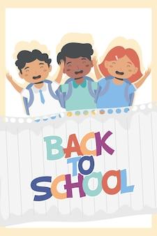 Trzech uczniów wraca do postaci ze szkoły