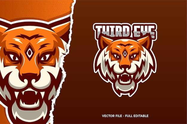 Trzecie oko tygrys e-sport szablon logo