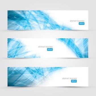 Trzy abstrakcyjne wektora transparentu tła wektora