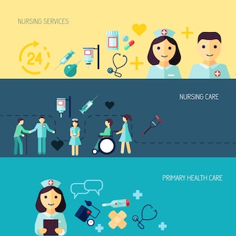 Trzy banery o medycynie