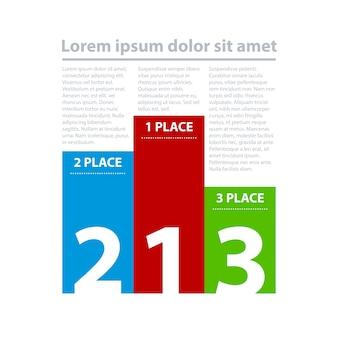 Trzy kolorowe transparenty w formie stojaka.