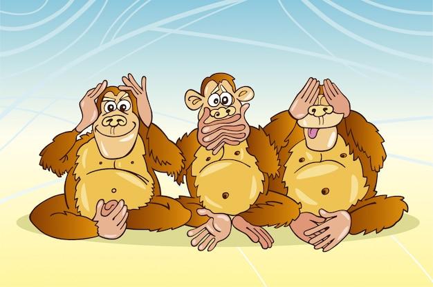 Trzy małpy