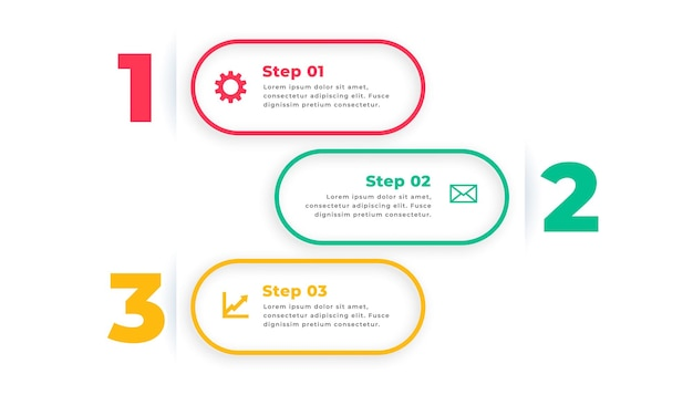 Trzy opcje nowoczesnego szablonu infografiki