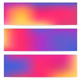 Trzy panoramiczny abstrakcjonistyczny plamy tło.