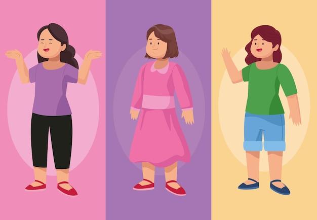 Trzy postacie dziewczyn