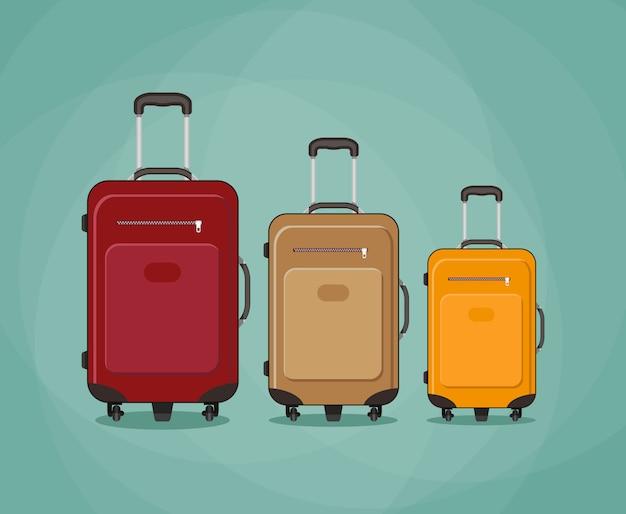 Trzy torby podróżne