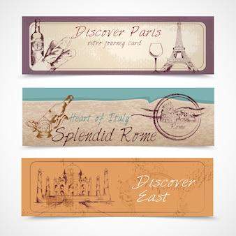 Trzy transparenty podróży