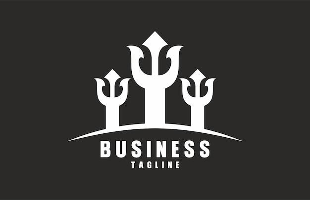 Trzy trójzębne logo
