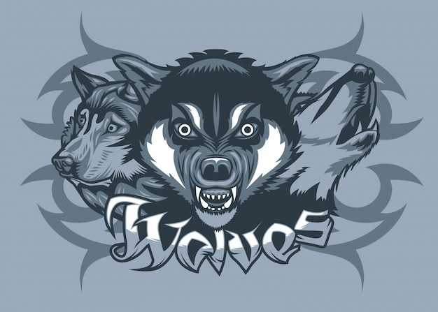 Trzy wilki atakują