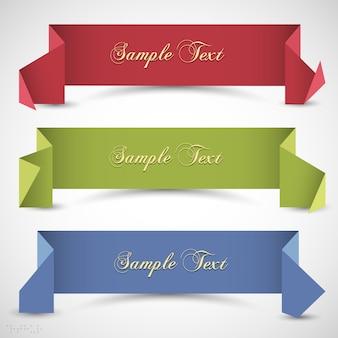 Trzy wstążki origami dla projektu