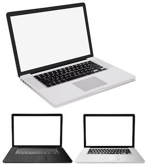 Trzy wzory ilustracja laptopów komputerowych