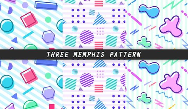 Trzy wzory memphis