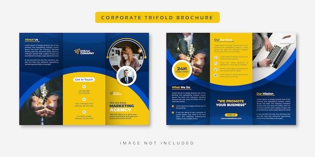 Trzyczęściowa broszura biznesowa