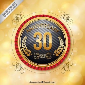 Trzydzieści rocznica okrągła plakietka