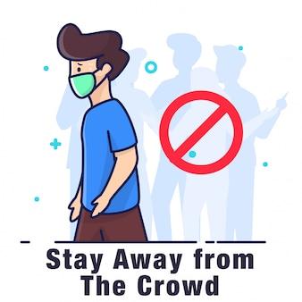 Trzymaj się z dala od tłumu ilustracji
