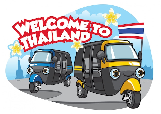 Tuk tuk samochód thailand
