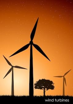 Turbiny wiatrowe.