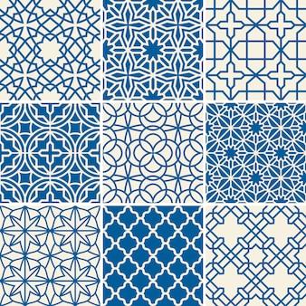 Turecki tekstura wektor wzory semless