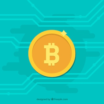 Turkusowy bitcoin