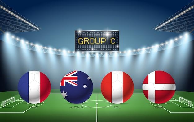 Turniej piłkarski grupy c rosja 2018 (francja, australia, peru, dania)