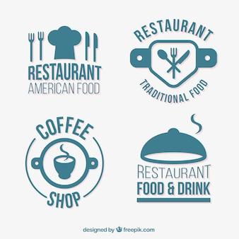 Turquoise odznaki restauracjach