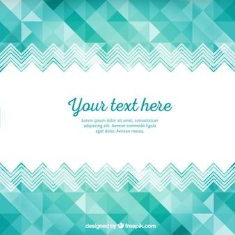 Turquoise szablon geometryczne